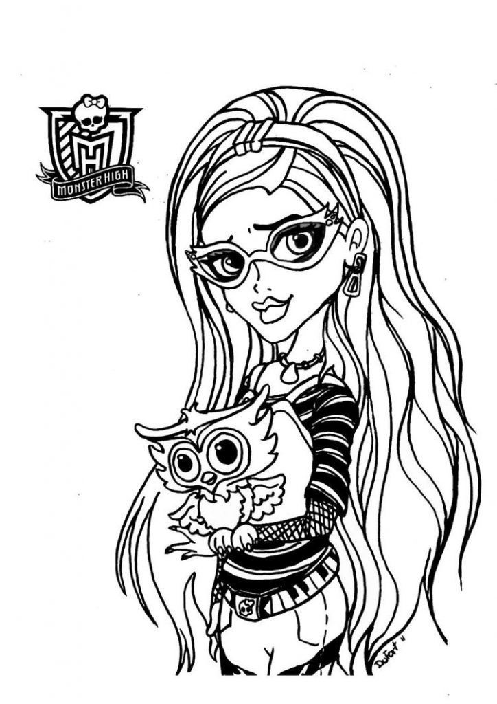 Ghoulia Yelps Monster High Desenhos Para Colorir