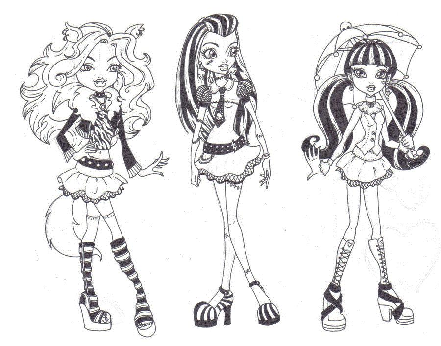 Amigas Monster High Desenhos Para Colorir