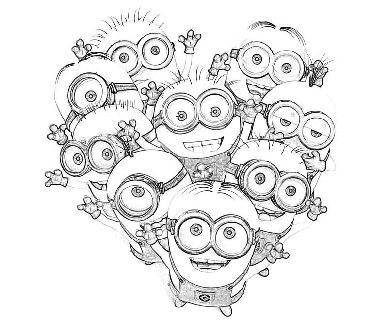 girl minions coloring pages - photo#35