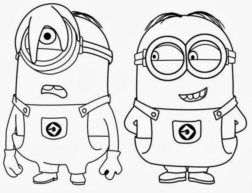 Stuart E Dave Minions Desenhos Para Colorir
