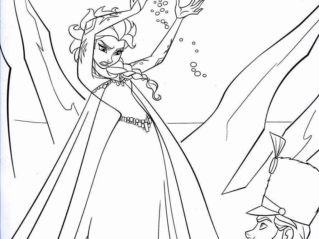 Desenhos Para Colorir Elsa Frozen