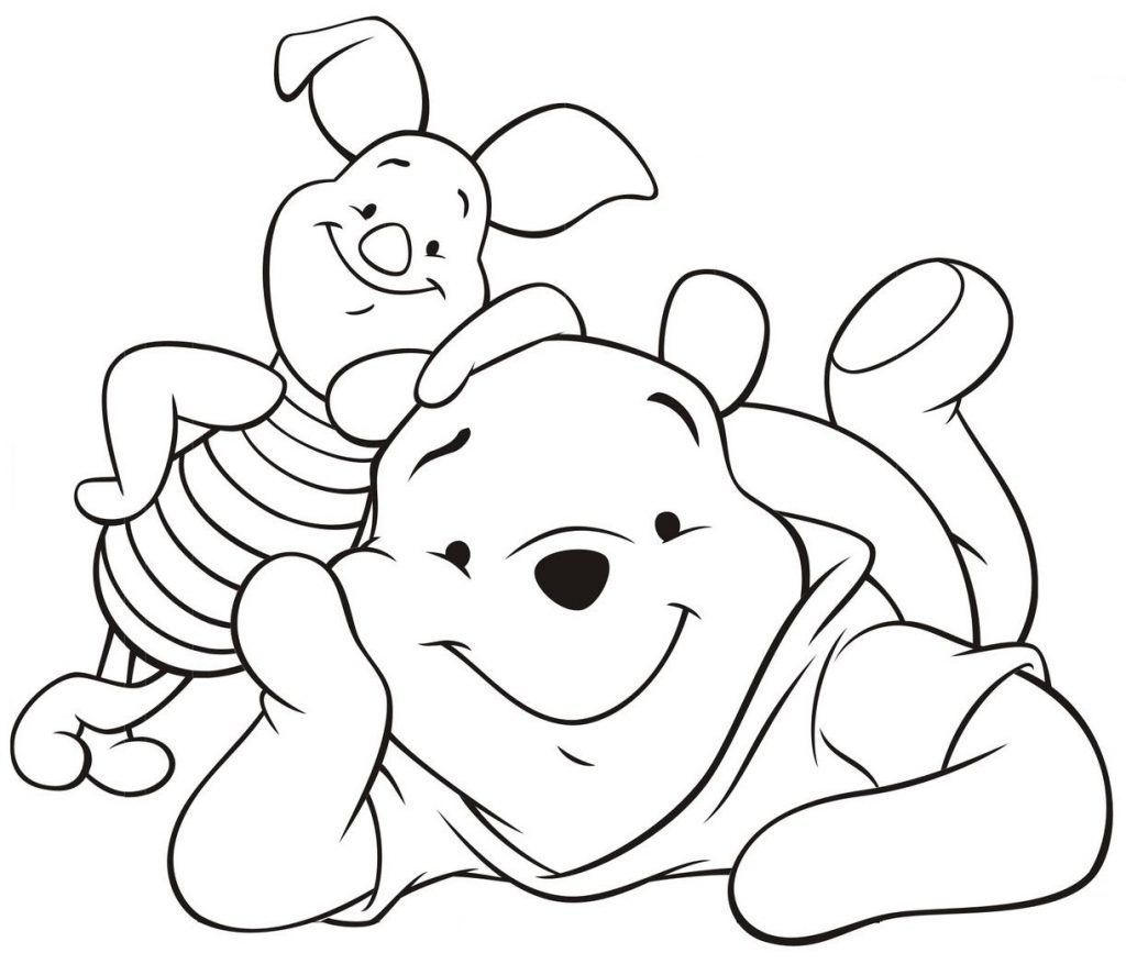 Ursinho Pooh E Leitao Deitados Desenhos Para Colorir