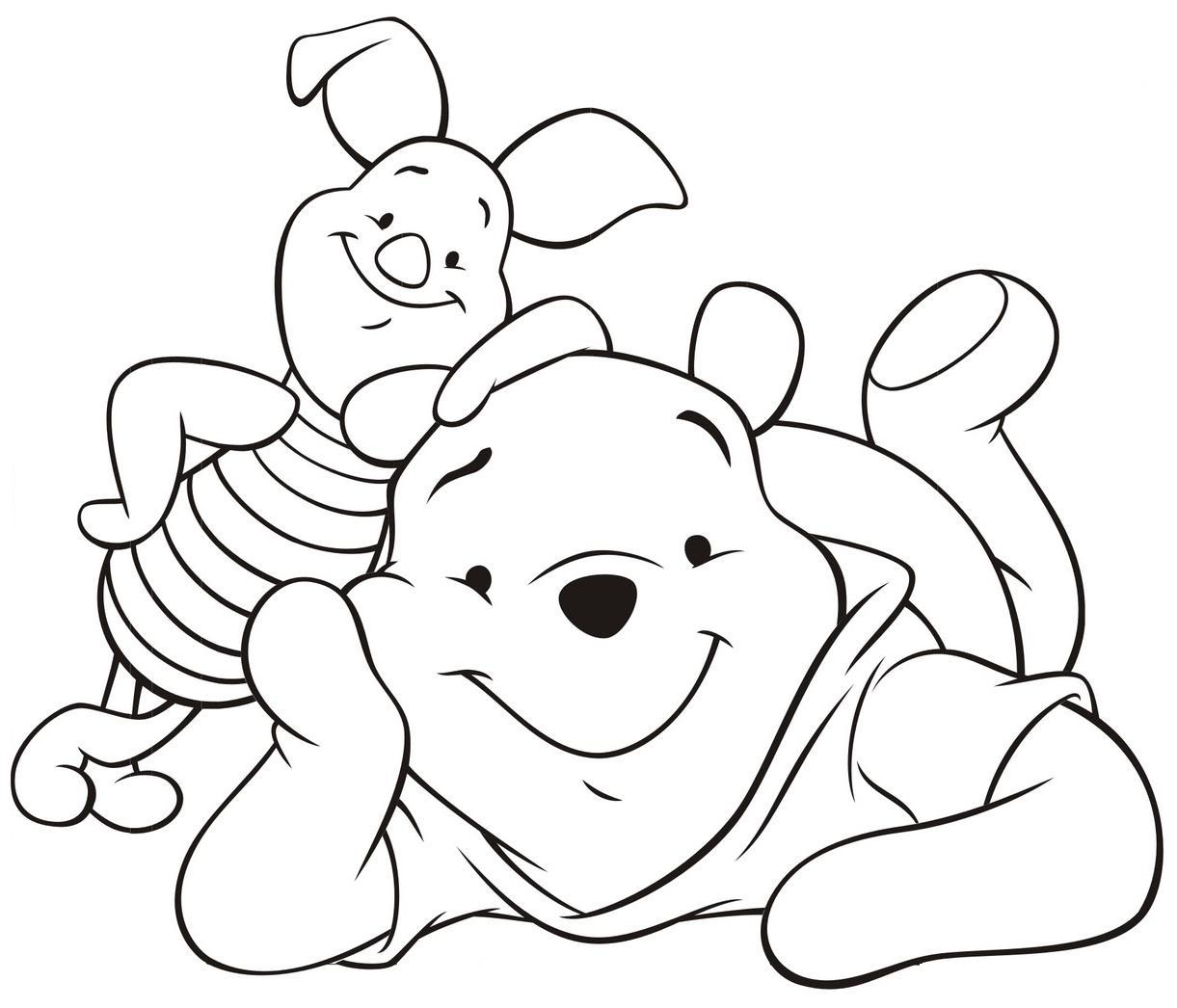 Ursinho Pooh E Leitão Deitados