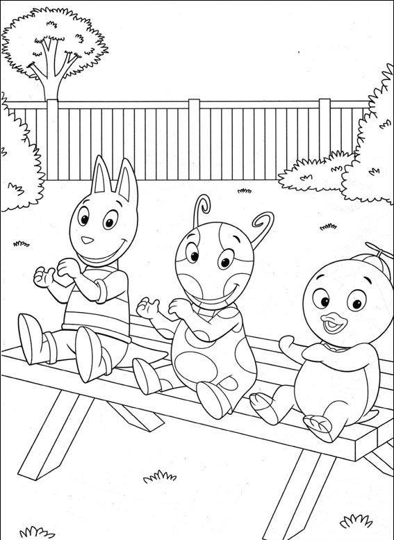 desenho backyardigans para colorir