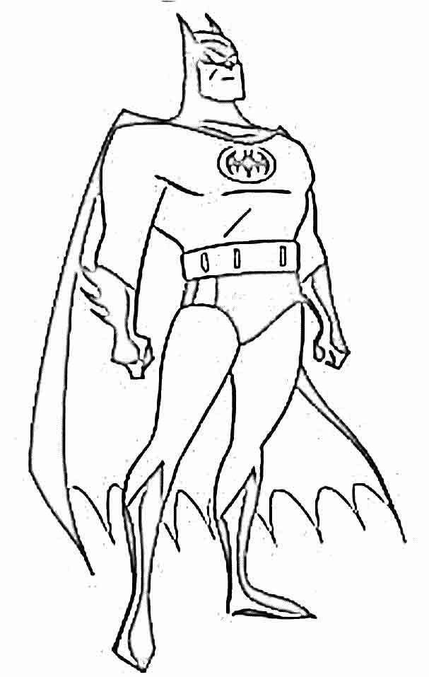 Batman Heroi Desenhos Para Colorir