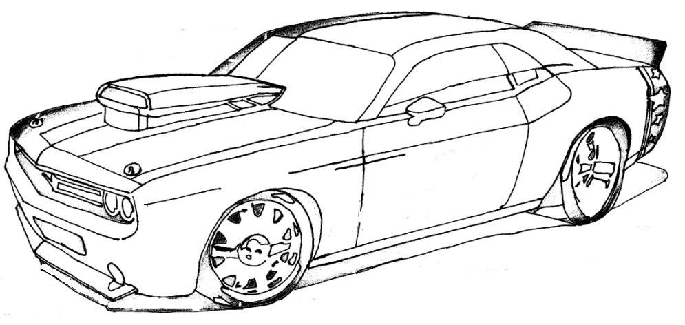 Carros Tunados Desenhos Para Colorir