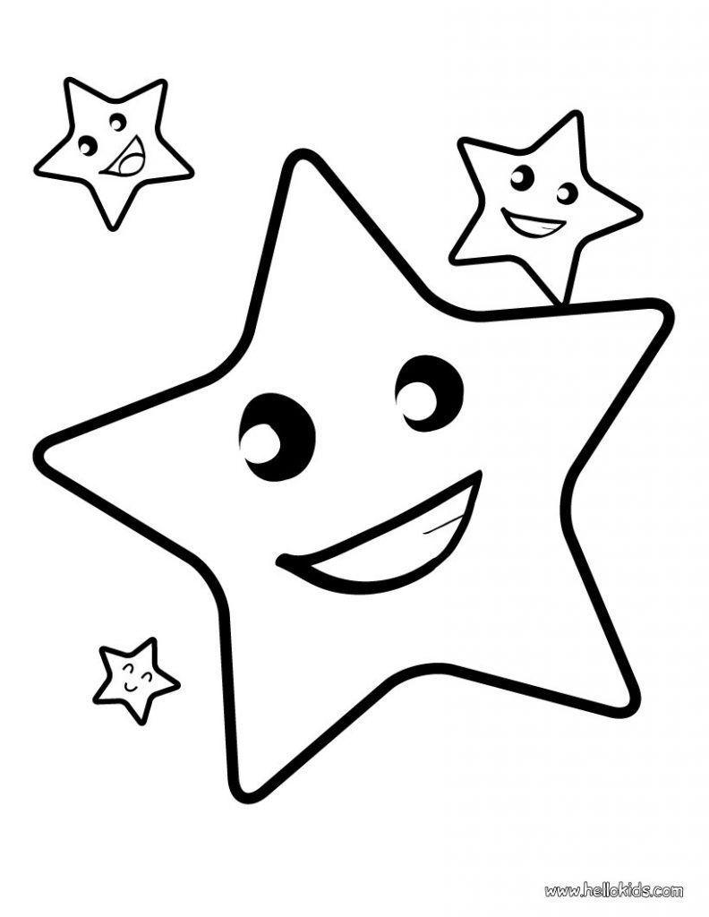 estrela desenhos para colorir