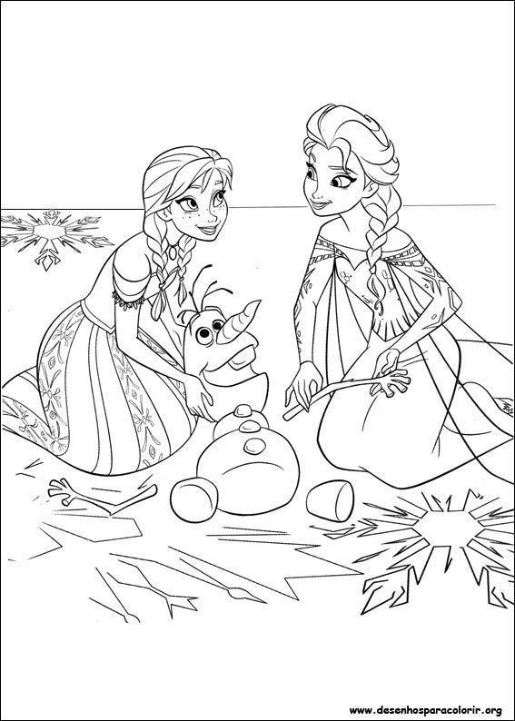 Frozen Elsa Olaf Desenhos Para Colorir