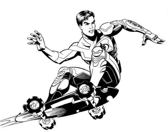 Desenho De Skate Para Imprimir: Desenhos Para Colorir