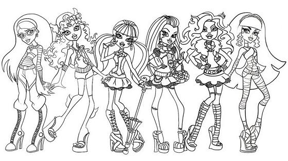 Monster High So Amigas Desenhos Para Colorir