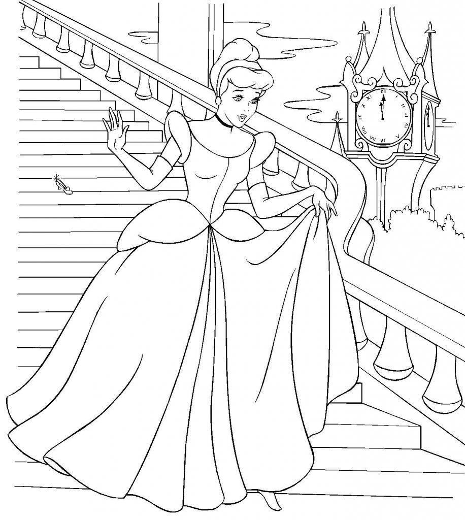 Princesa Cinderela Desenhos Para Colorir