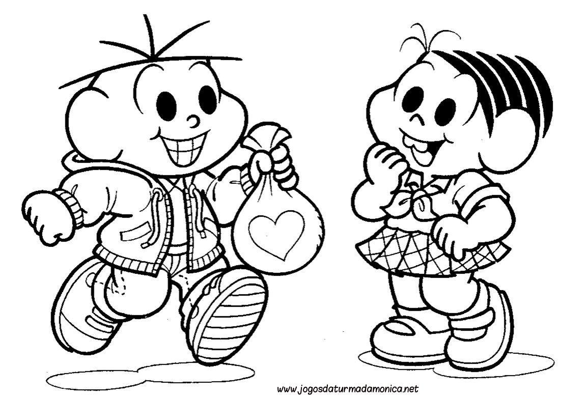 Colorido Angry Birds Personagens Vector: Mônica E Cebolinha Amiguinhos