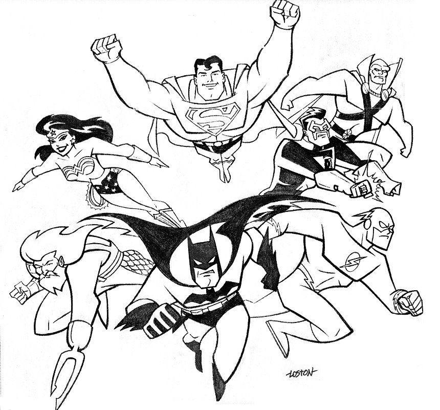 Desenho Da Liga Da Justica Desenhos Para Colorir