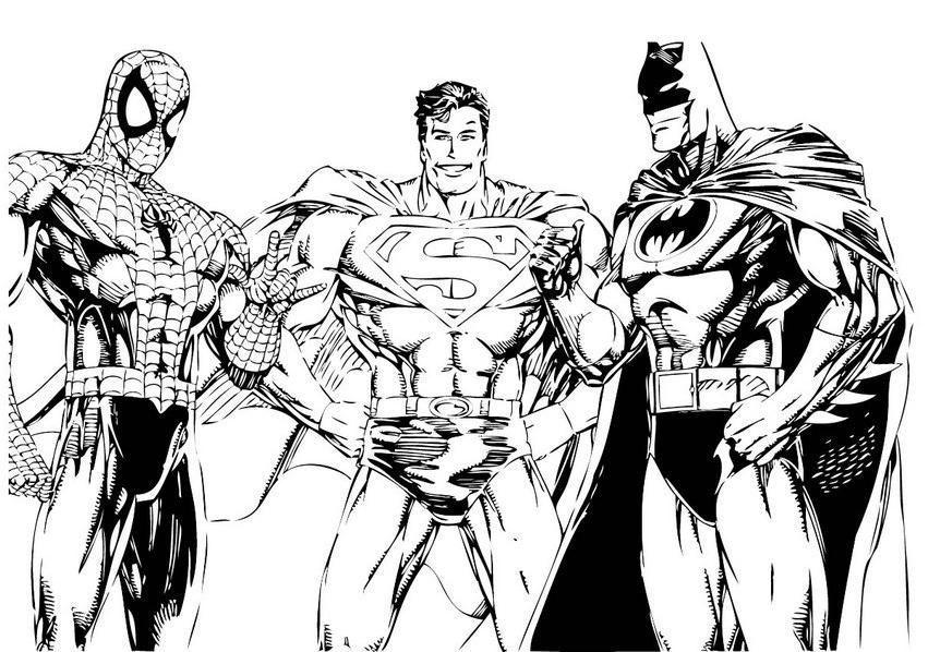 Herois Juntos Desenhos Para Colorir