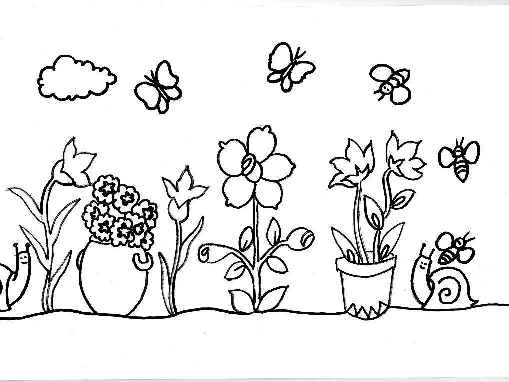 jardim com flores home desenhos do meio ambiente jardim com flores