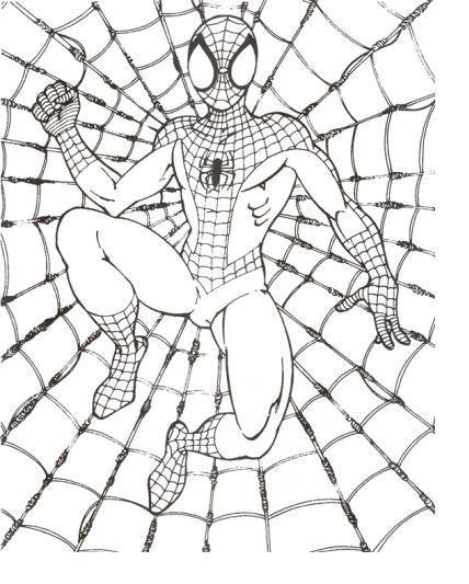 Teia Do Homem Aranha Desenhos Para Colorir