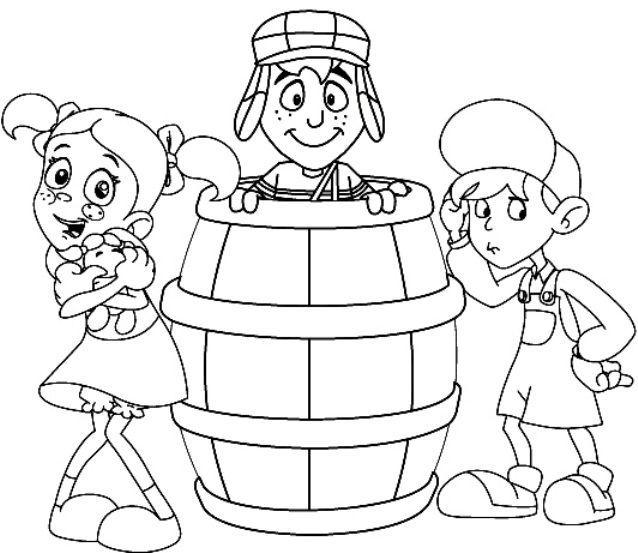 chaves chiquinha e kiko desenhos para colorir