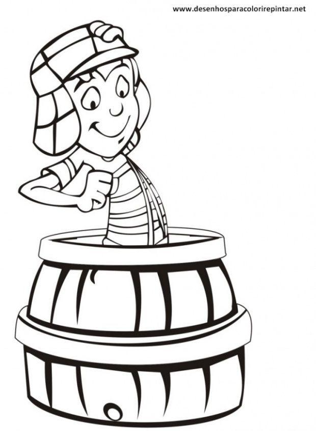 chaves no barril desenhos para colorir