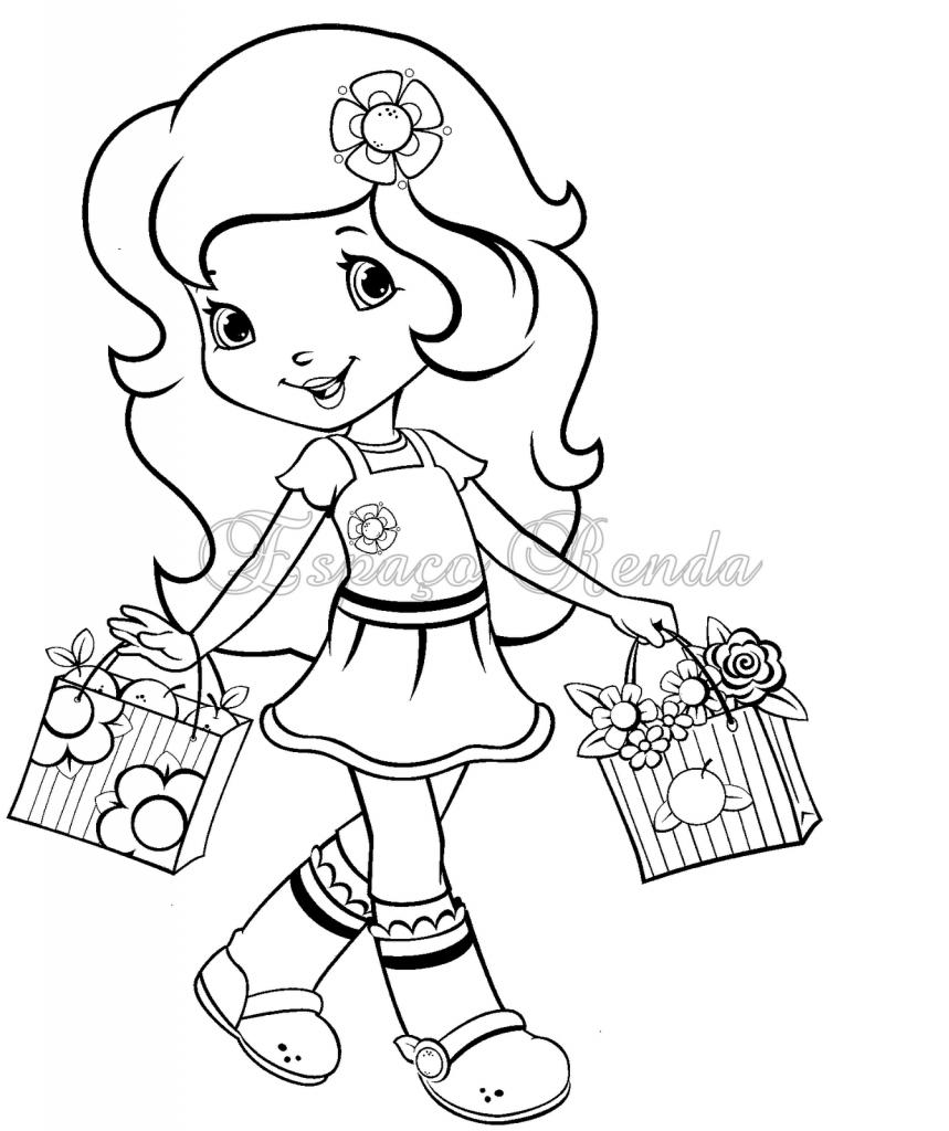 moranguinho nas compras desenhos para colorir