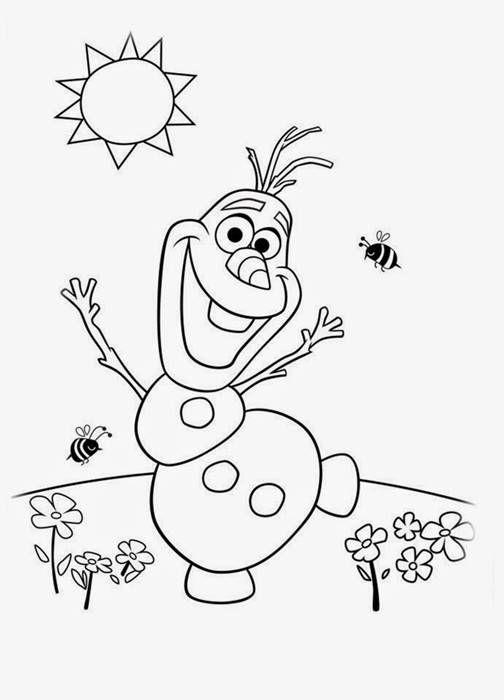 Olaf Desenhos Para Colorir