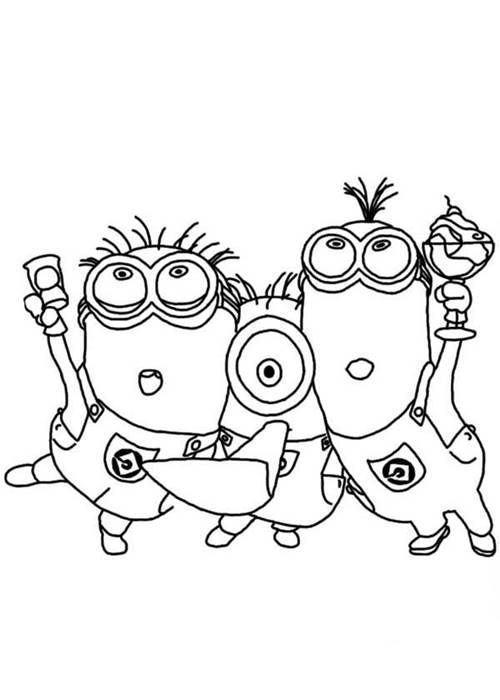 minion coloring pages halloween goblin - photo#14