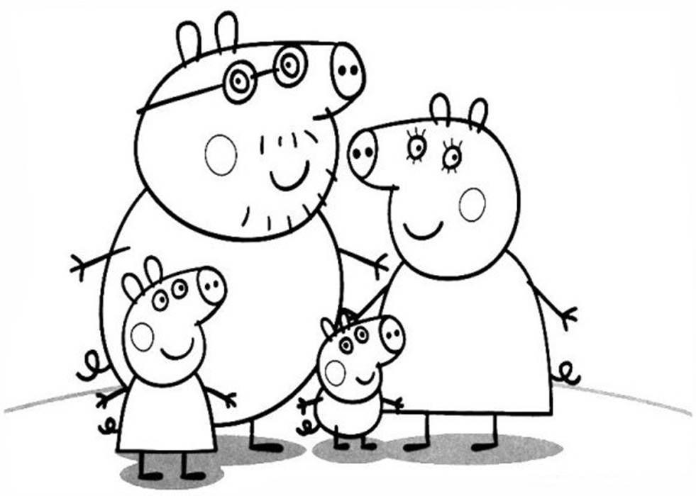 Família Pig Desenhos Para Colorir