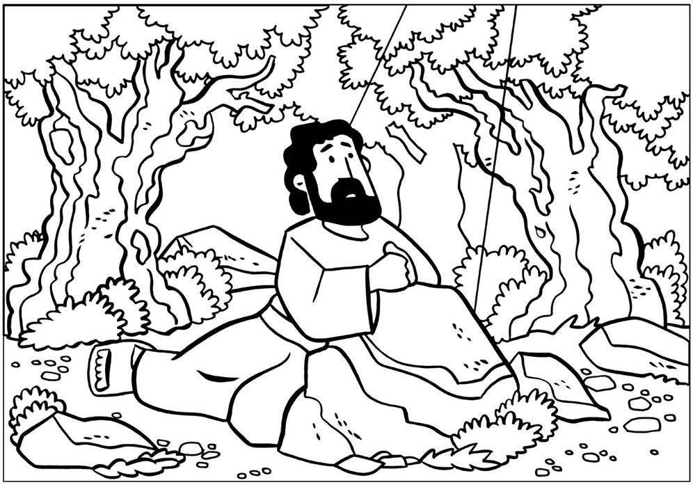 Jesus Orando Desenhos Para Colorir