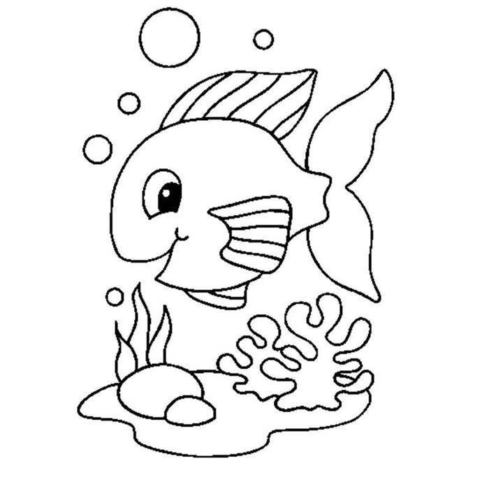 Nemo Nadando Desenhos Para Colorir