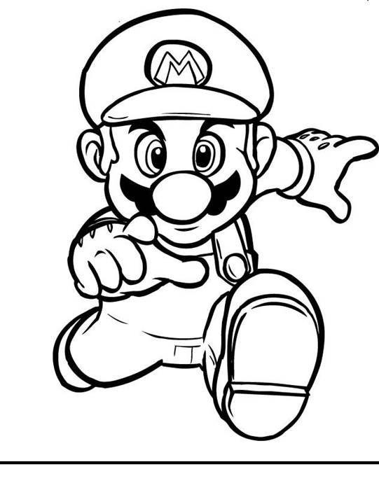 Super Mario Desenhos Para Colorir