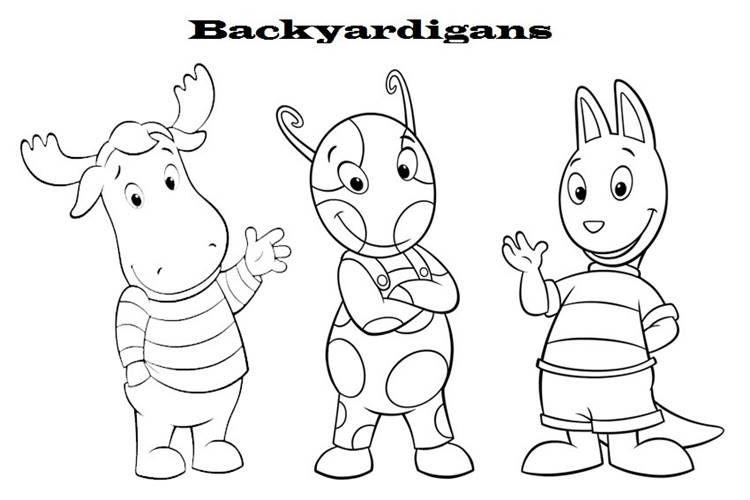 amigos backyardigans desenhos para colorir