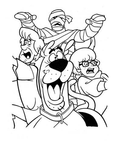 Scooby Doo E Sua Turma Desenhos Para Colorir