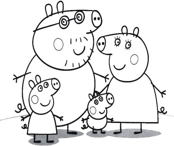 Familia Da Peppa Desenhos Para Colorir