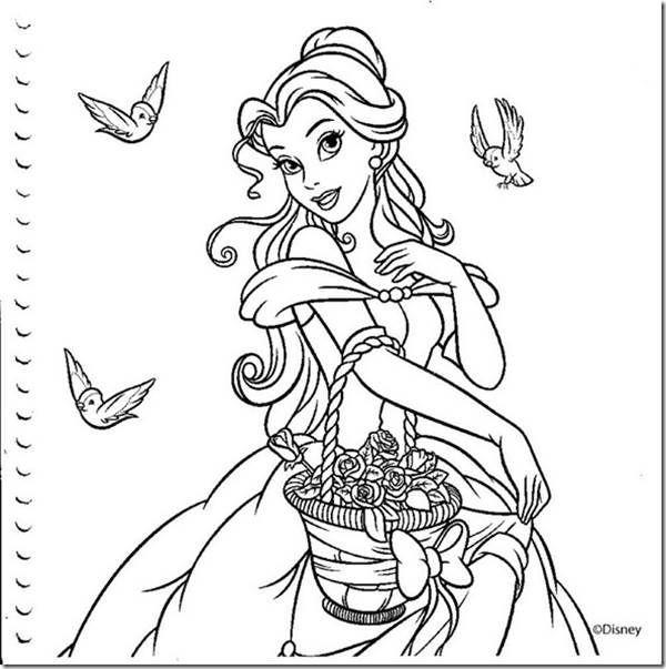 Linda Princesa Desenhos Para Colorir