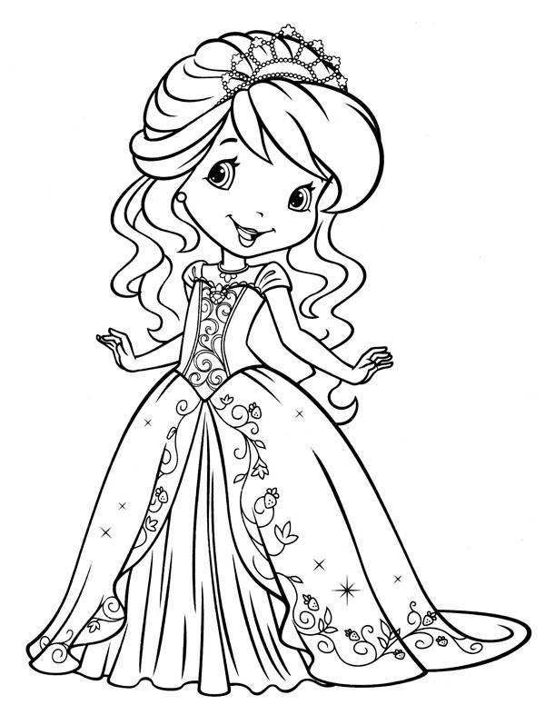 Princesa Sorrindo Desenhos Para Colorir