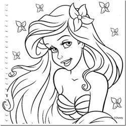 Princesa Ariel Desenhos Para Colorir