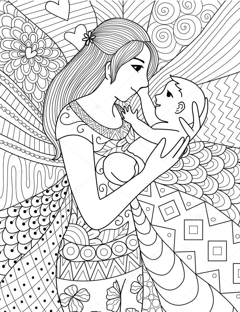 Desenho De Fada Mae Desenhos Para Colorir