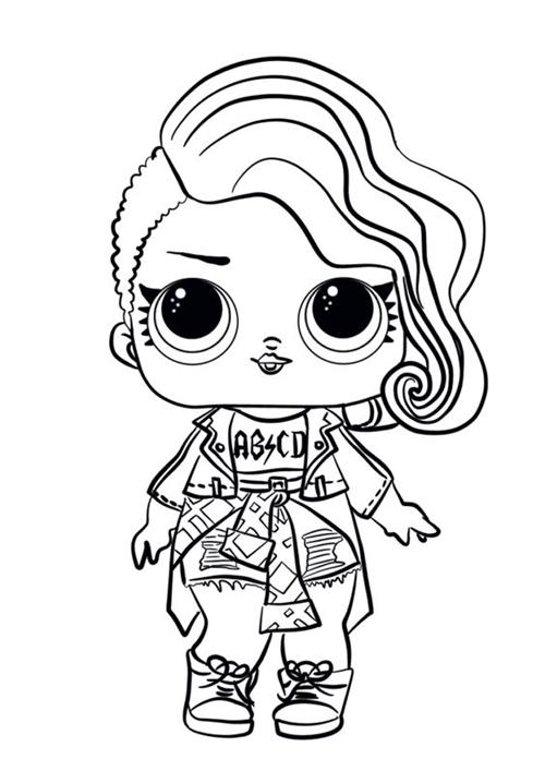 Desenho da LOL Rockeira Desenhos