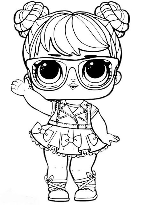 Boneca Lol Super Fashion Desenhos Para Colorir