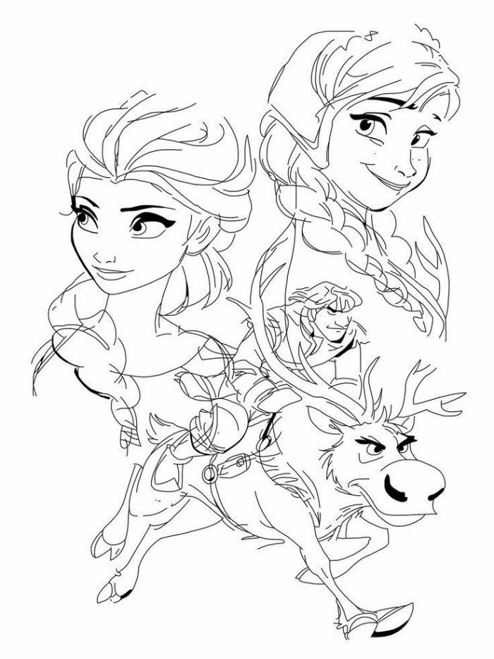 Desenho Da Frozen No Estilo Poster Desenhos Para Colorir