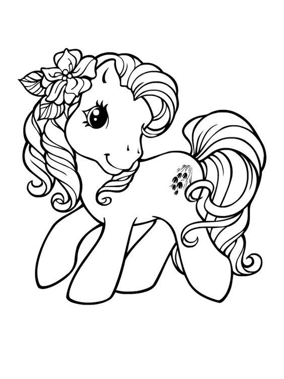 Desenho De Unicornio Fofo Com Flor Desenhos Para Colorir