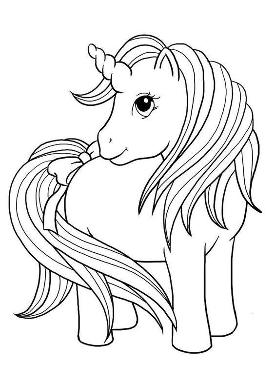 Desenho De Unicornio Fofo Com Laco Desenhos Para Colorir