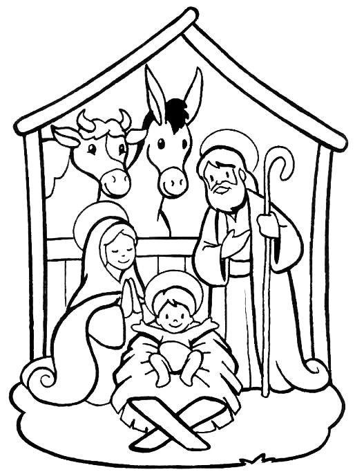 Desenho Biblico Do Nascimento De Jesus No Estabulo Desenhos Para