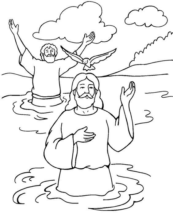 Desenho Biblico Do Batismo De Jesus Desenhos Para Colorir
