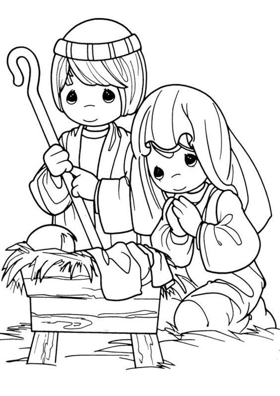 Desenho Biblico Infantil De Jesus Maria E Jose Desenhos Para