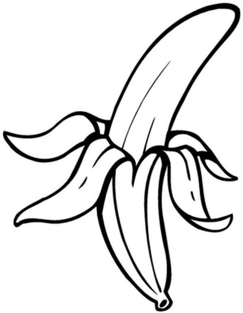 Desenho de banana para colorir desenhos para colorir - Fruits coloriage ...