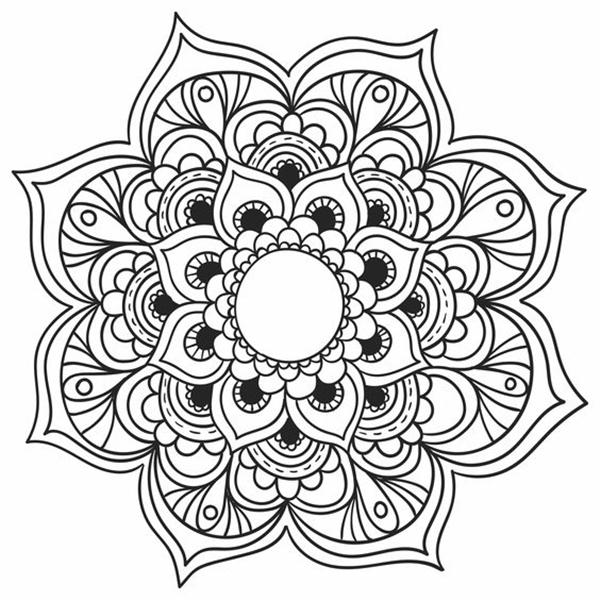 Desenho De Mandala Com Flores Desenhos Para Colorir