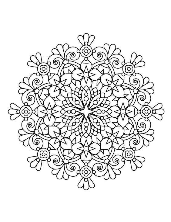 Mandala Energética Da Natureza Desenhos Para Colorir