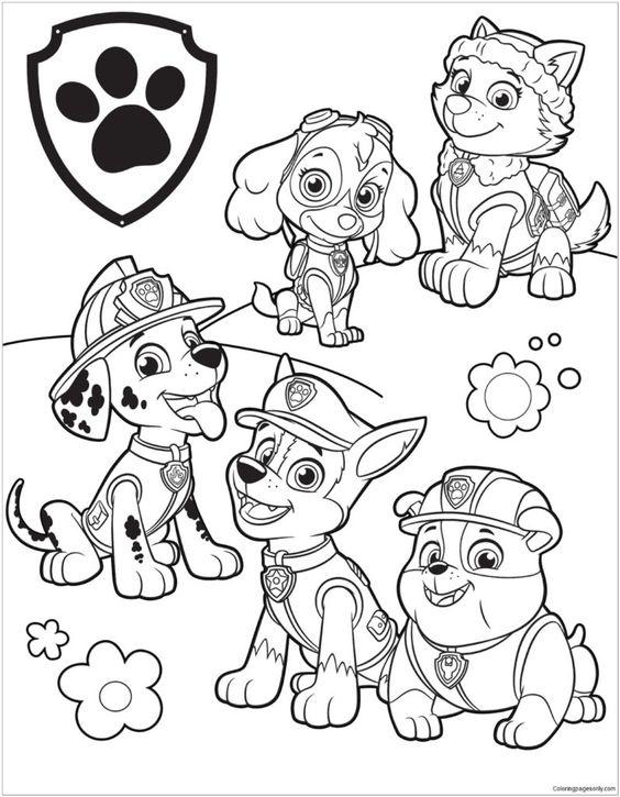 Desenho Da Patrulha Canina Juntos Desenhos Para Colorir