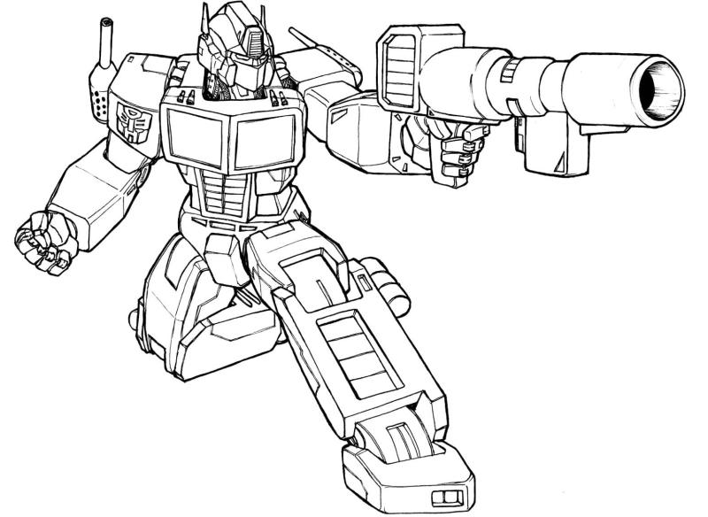 Desenho De Transformers Com Arma Desenhos Para Colorir
