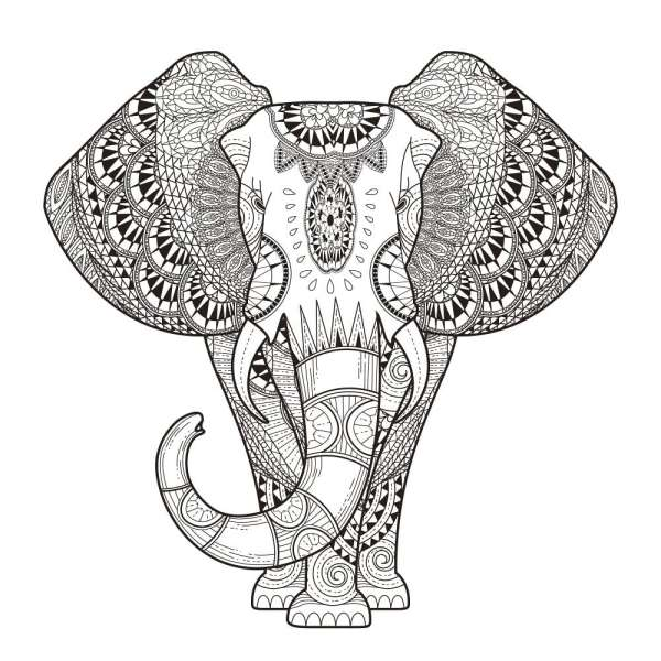 Elefante Hippie Para Adulto Colorir Desenhos Para Colorir
